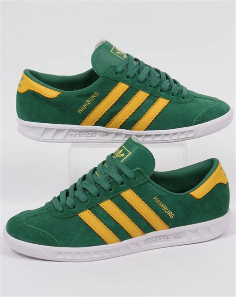 Adidas Green adidas hamburg trainers green yellow white originals