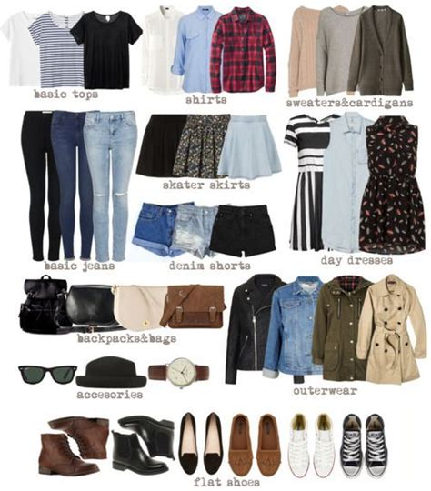 Minimalist Closet List by Back To School Search Piecesineed