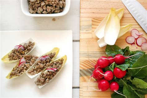 Sugar Detox Pork Recipes by Ground Pork In Endive Boats Primal Palate Paleo Recipes