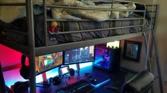 gaming bed finding inspiration for small gaming setups gaming decor