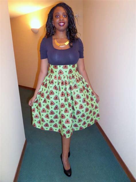 les modeles des jupes en pagne jupe mi longue fronc 233 e en wax pagne africain cire