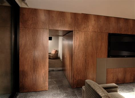 Walnut Wall with hidden door   Contemporary   Phoenix   by