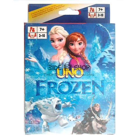 jual mainan kartu uno karakter frozen card hobi