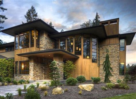 stone and wood homes exterior finishes stone wood siding house exteriors