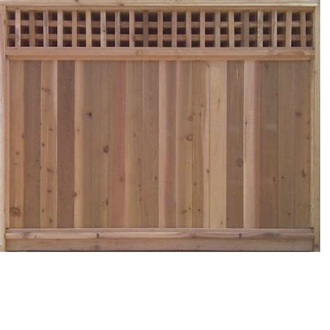 8 Ft Trellis Panels 6 Ft X 8 Ft Cedar Fence Panel With Square Lattice Top