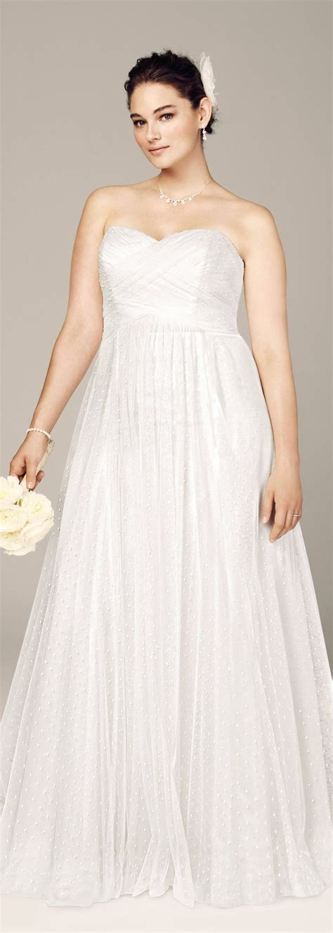 Cute sweetheart wedding dress from David's Bridal . Read