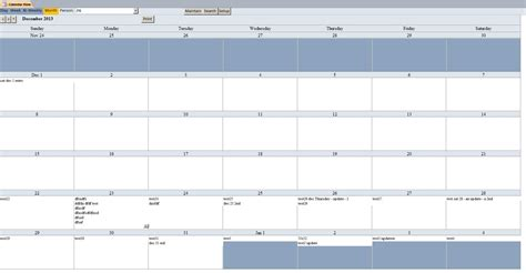 Basic Microsoft Access Calendar Scheduling Database Template Microsoft Access Calendar Template