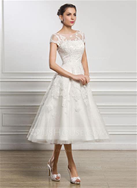 Hochzeitskleid Wadenlang by A Linie Princess Linie U Ausschnitt Wadenlang T 252 Ll Spitze