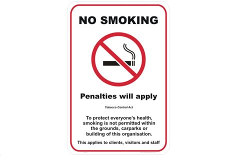 No Smoking Signs Queensland | qld no smoking sign p22531 national safety signs
