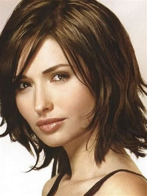 medium length hairstyles for thick hair and round faces medium length layered haircuts for thick hair