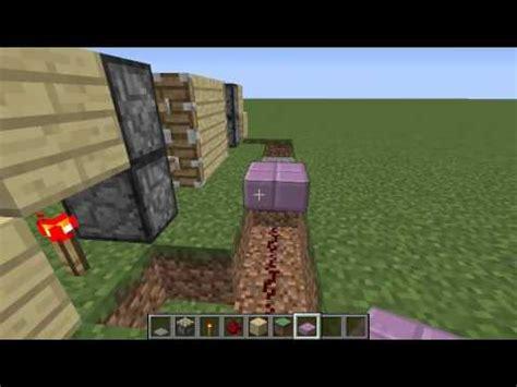come fare una porta su minecraft come fare una porta automatica su minecraft 1 9