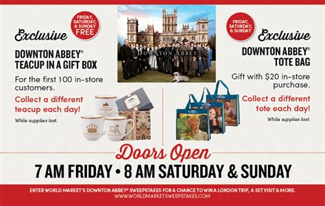 World Market Downton Abbey Sweepstakes - i should be mopping the floor downton abbey and world market perfection