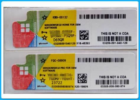 License Windows 10 Pro 32 64bit 2 User Original 100 Limited buy genuine windows 10 pro coa license sticker 32 64bit