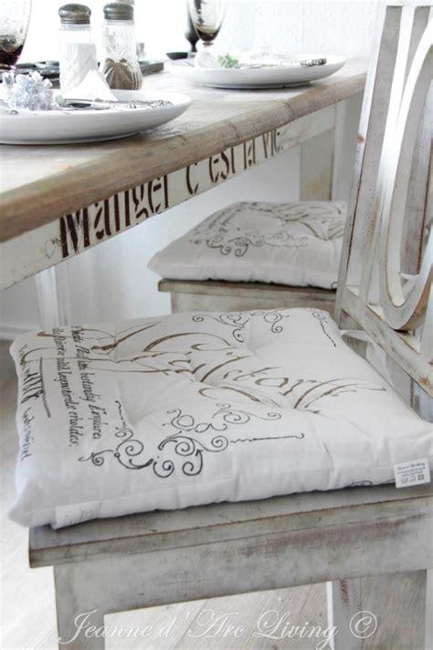 cuscini per le sedie della cucina cuscini shabby chic per le sedie della cucina