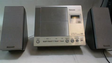 panasonic model sa en25 bookshelf cd player radio with 2