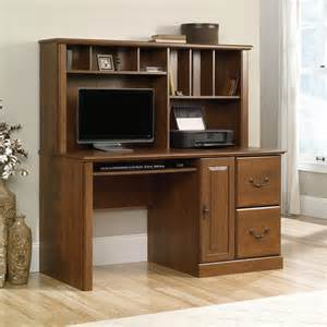 Sauder Orchard Small Wood Computer Desk With Hutch In Oak Orchard Computer Desk With Hutch 418650 Sauder