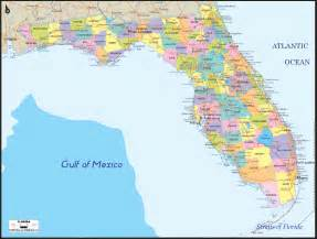 map of florida with towns political map of florida ezilon maps