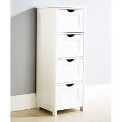 Free Standing Storage Cabinet Large 4 Drawer Wooden Cupboard Storage Cabinet Free Standing Bathroom Unit White Ebay