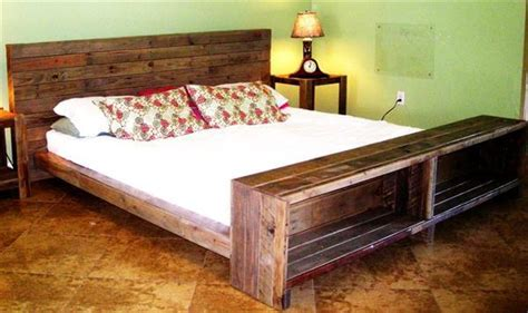 diy pallet bed with storage diy pallet bed with storage and headboard 101 pallets
