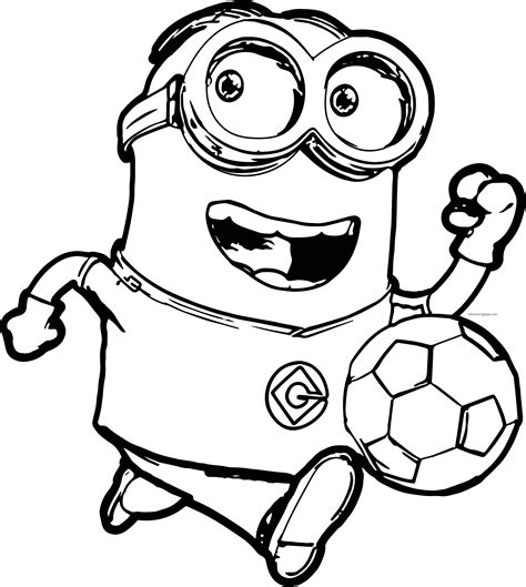 all minions coloring pages minion soccer player coloring pages wecoloringpage