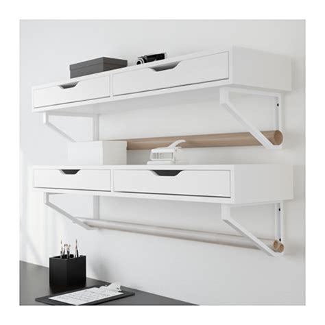 ekby alex shelf with drawers white 119x29 cm ikea
