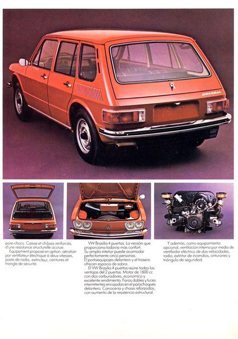 volkswagen brasilia 1975 volkswagen brasilia brochure