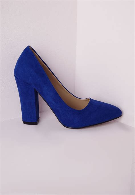 cobalt blue high heel shoes is heel
