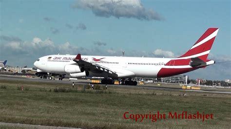 air mauritius a340 300 3b nbi at heathrow airport