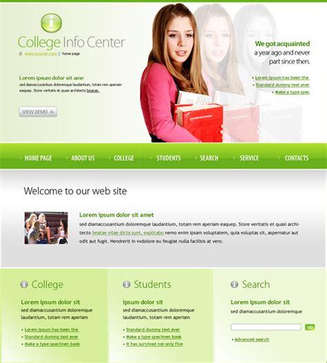 play school website templates free college info center website template 6125 education