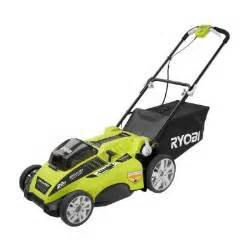 battery powered lawn mower home depot ryobi 20 in 40 volt lithium ion brushless cordless walk