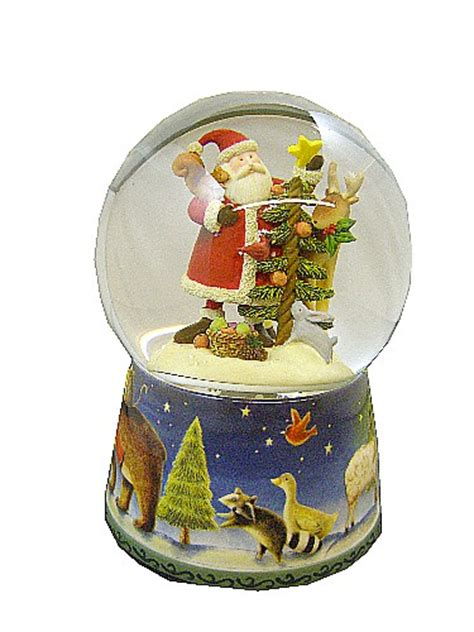 father christmas snowglobe muisical waterglobe music