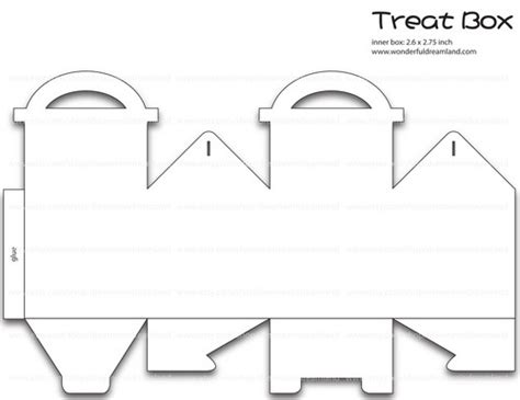 pdfbox template 50 treat gift box template pdf png clip digital
