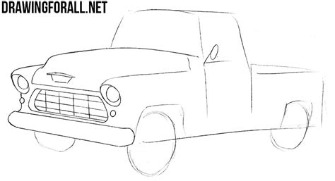 Chevy Truck Drawings by How To Draw A Chevy Truck Drawingforall Net