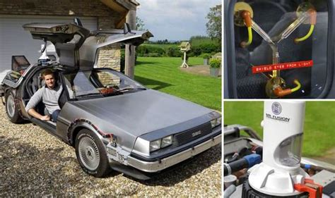 flux capacitor dude where s my car back to the future briton buys screen accurate delorean complete with flux capacitor uk