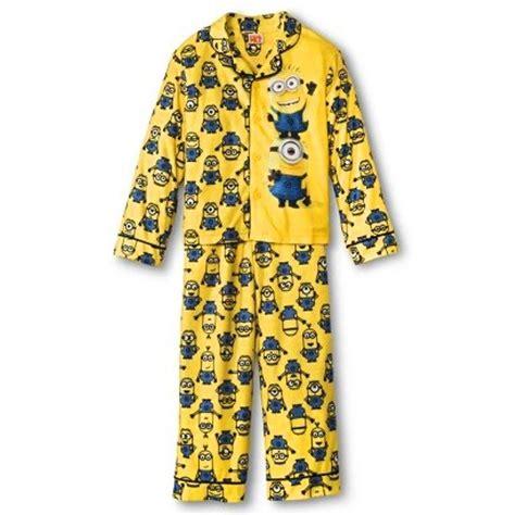 Pajamas Minion despicable me minions boys 2 pj sleep set flannel button pajamas 4 6 8 10 ebay