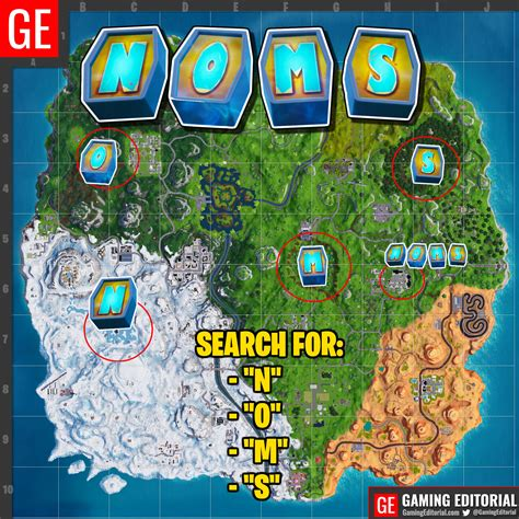 fortnite letters quot search the letter n o m s quot week 4 fortnite challenge