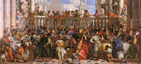 Wedding At Cana Painting In The Louvre by Italian Renaissance Paintings In The Louvre Museum