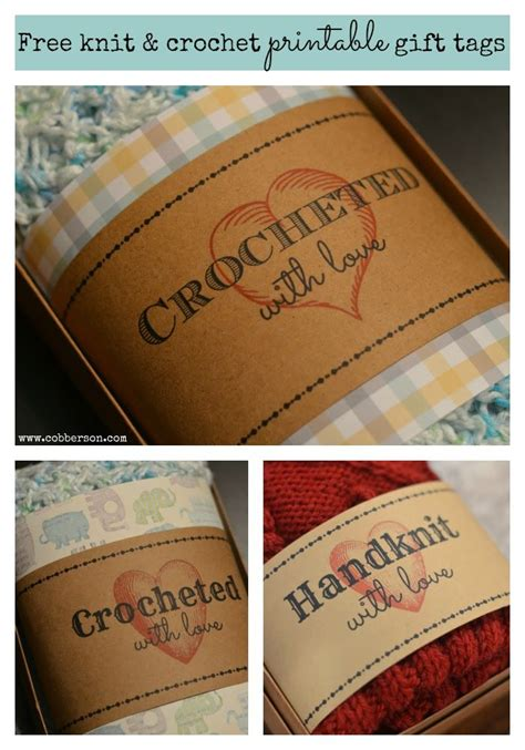 Tags For Handmade Crochet Items - 13 best images about labels for handmade items on
