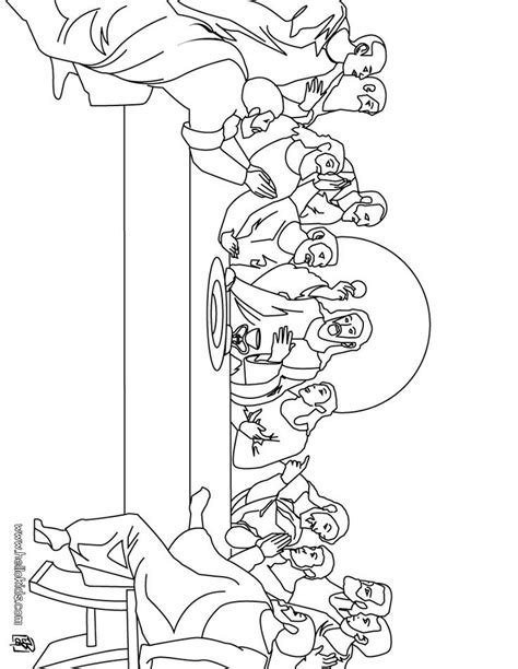 X2 Coloring Page by The Last Supper Coloring Page Easter Activities For