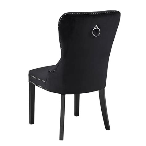 Euphoria Black Velvet Dining Chair Xcella Black Dining Chairs