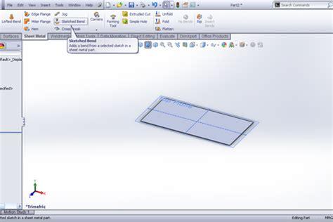 solidworks tutorial bending tutorial sketched bend feature sheet metal in