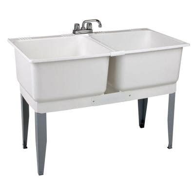Mustee 46 In X 34 In Plastic Laundry Tub 24c The Home Depot   mustee 46 in x 34 in plastic laundry tub