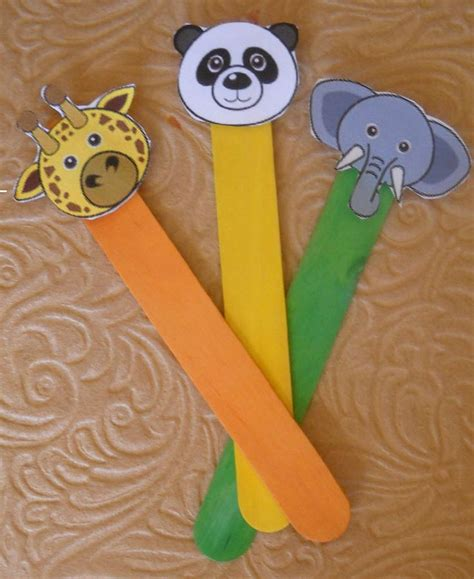 popsicle stick crafts for free puppet stick animals preschool puppets popsicle