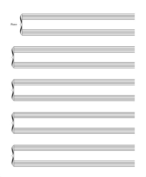musical staff lines flash cards template printable manuscript paper printable staff paper printable
