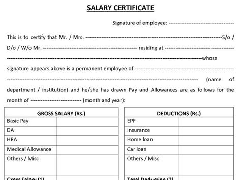Salary Certificate Letter Format Pdf Salary Certificate Formats Word Excel And Pdf Mala Co In