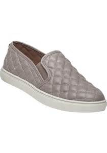 steve madden ecentrcq grey quilted slip on sneaker in gray