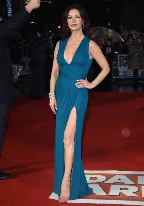 s day premieres 2016 catherine zeta jones dazzles in teal gown at s army