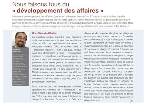Mba Journal by Nous Faisons Tous Du D 233 Veloppement Des Affaires Article