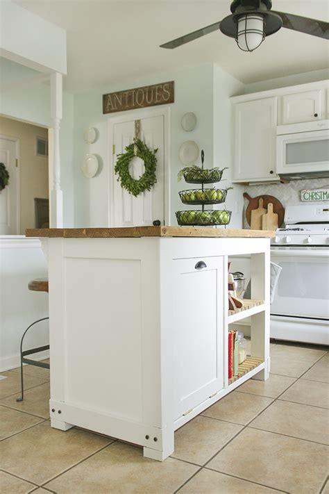 diy island kitchen diy kitchen island with trash storage shades of blue interiors