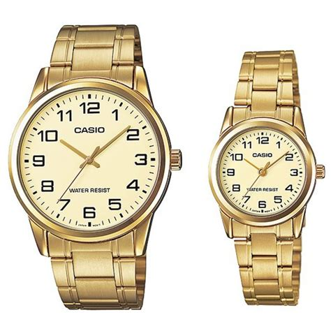 casio his gold stainless steel band